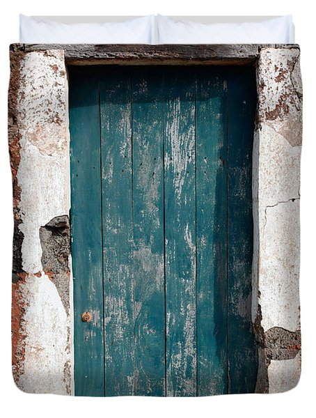 Old Painted Door Duvet Cover by Gaspar Avila