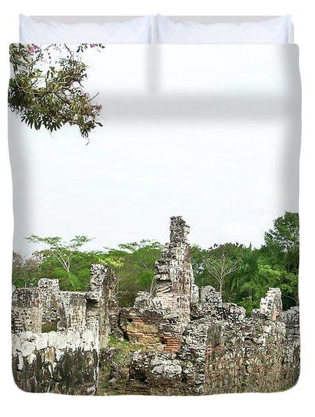 Old Panama City Ruins 8 Duvet Cover by Douglas Barnett