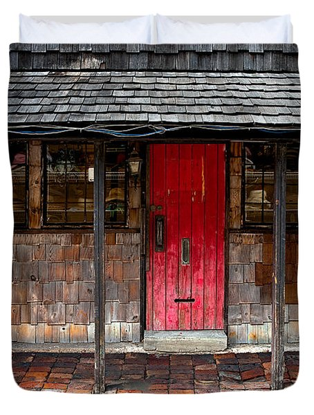 Old Red Door Duvet Cover by Christopher Holmes