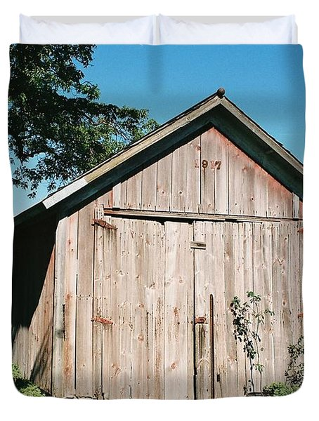 Old Shed Duvet Cover by Lauri Novak
