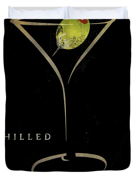 Olive Martini Duvet Cover by Mindy Sommers