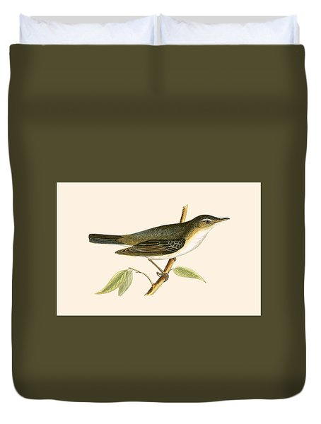 Olive Tree Warbler Duvet Cover by English School