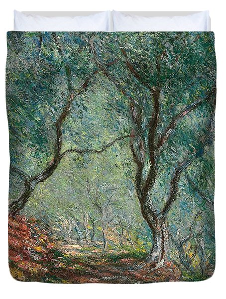 Olive Trees In The Moreno Garden Duvet Cover by Claude Monet