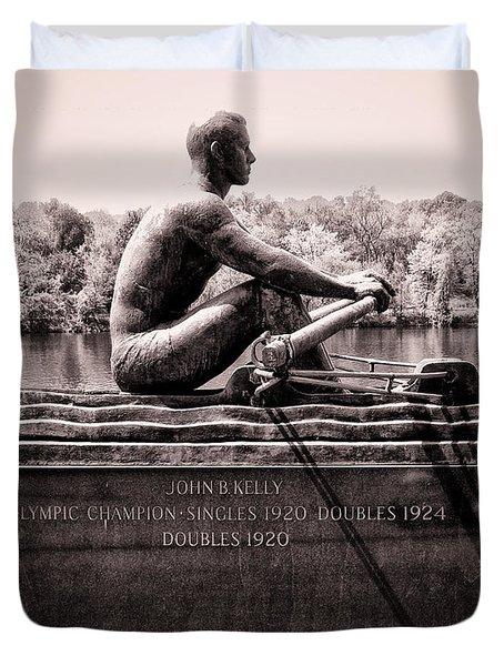 Olympic Champion - John B Kelly Duvet Cover by Bill Cannon