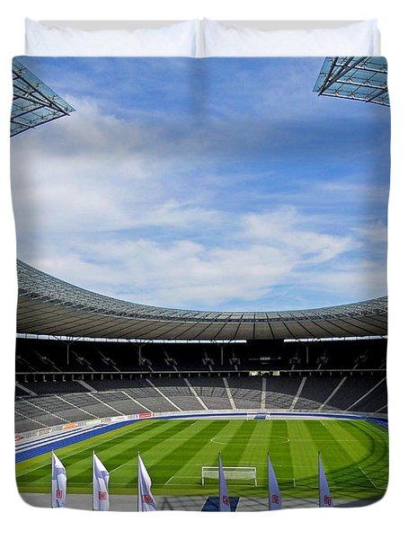 Olympic Stadium Berlin Duvet Cover by Juergen Weiss