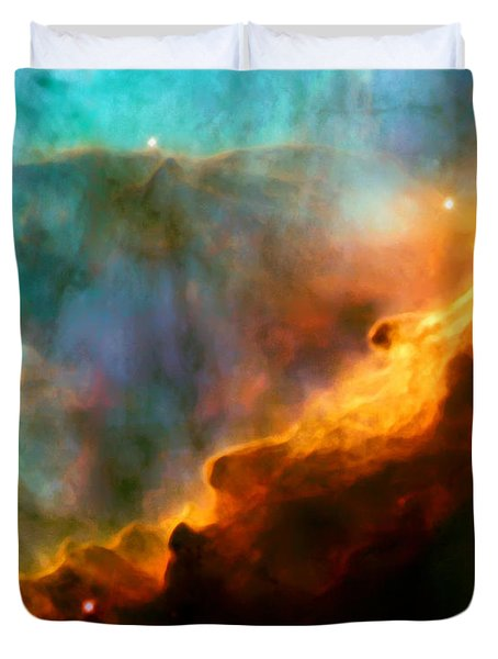 Omega Swan Nebula 3 Duvet Cover by The  Vault - Jennifer Rondinelli Reilly