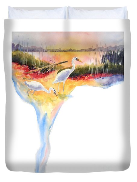 On Fire Duvet Cover by Kathy Braud