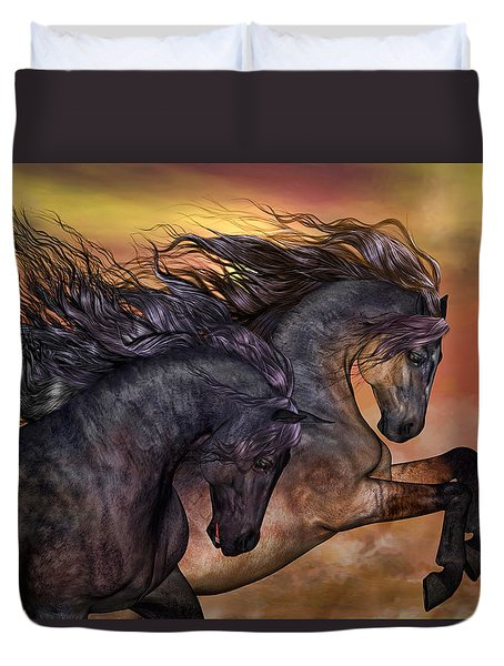 On Sugar Mountain Duvet Cover by Valerie Anne Kelly