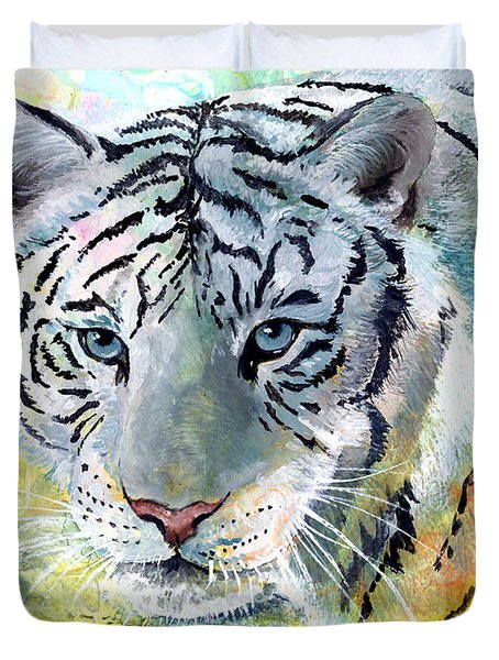 On The Prowl Duvet Cover by Sherry Shipley