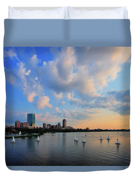 On The River Duvet Cover by Rick Berk