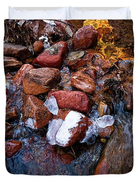 On The Rocks Duvet Cover by Christopher Holmes