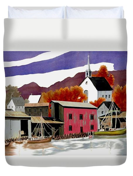On the Waterfront Duvet Cover by Ronald Chambers