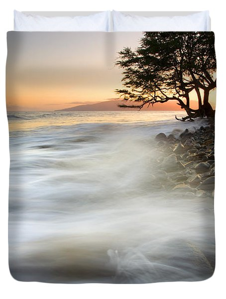 One Against The Tides Duvet Cover by Mike  Dawson