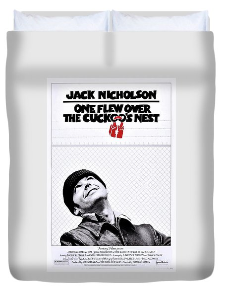One Flew Over The Cuckoo's Nest Duvet Cover by Movie Poster Prints