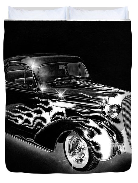One Hot 1936 Chevrolet Coupe Duvet Cover by Peter Piatt