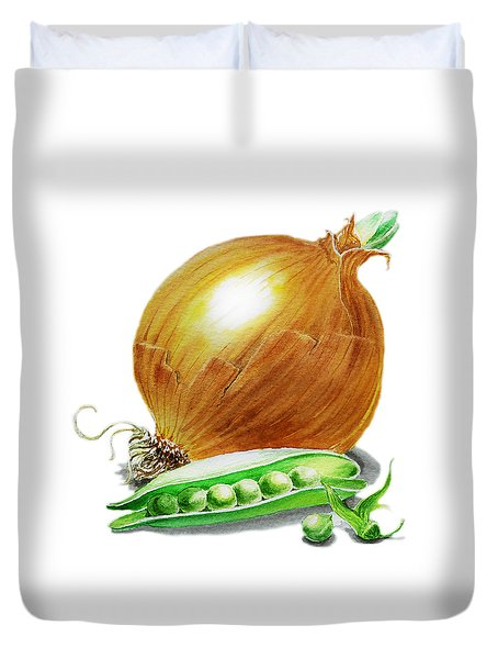 Onion And Peas Duvet Cover by Irina Sztukowski