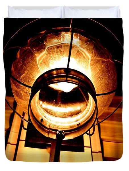 Onion Lamp At Night Duvet Cover by Robert Morin