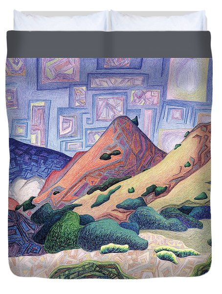 Opening The Dream Window Duvet Cover by Dale Beckman