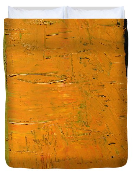 Orange And Brown Duvet Cover by Michelle Calkins
