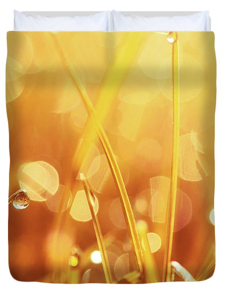 Orange Awakening Duvet Cover by Aimelle