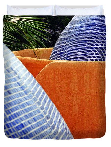 Orange Crush 3 Duvet Cover by Skip Hunt