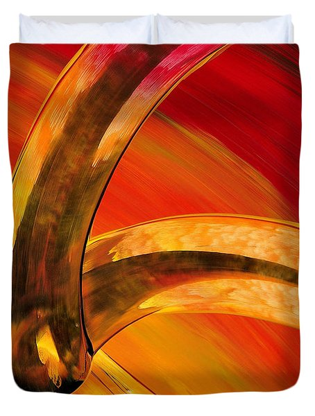 Orange Expressions Duvet Cover by Sharon Cummings