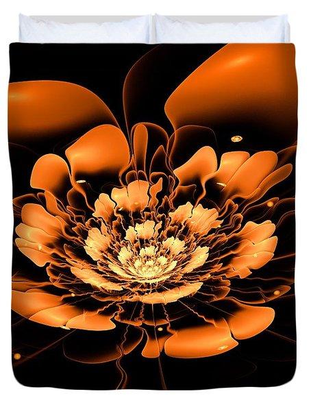Orange Flower  Duvet Cover by Anastasiya Malakhova