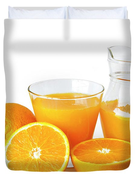 Orange Juice Duvet Cover by Carlos Caetano