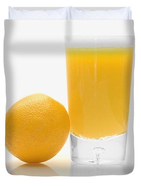 Orange Juice Duvet Cover by Darren Greenwood