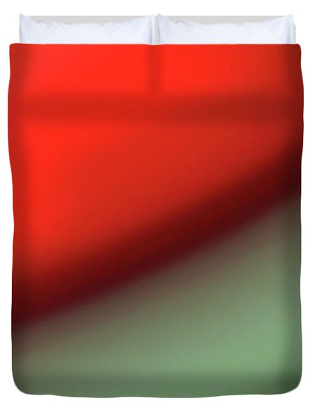 Orange Red Green Duvet Cover by CML Brown