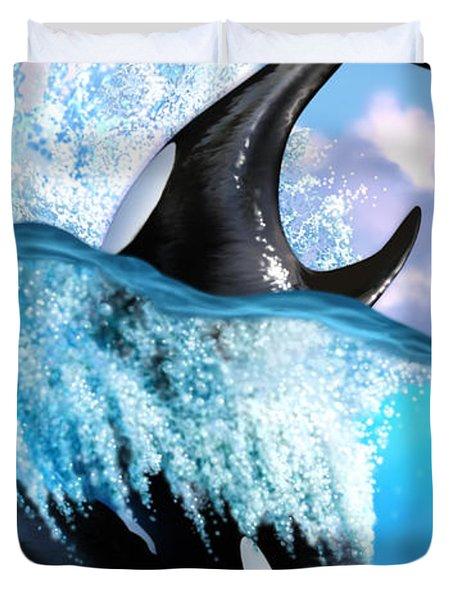 Orca 2 Duvet Cover by Jerry LoFaro