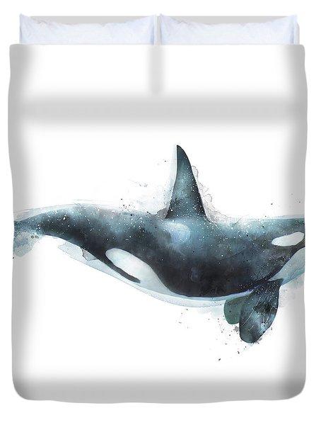 Orca Duvet Cover by Amy Hamilton