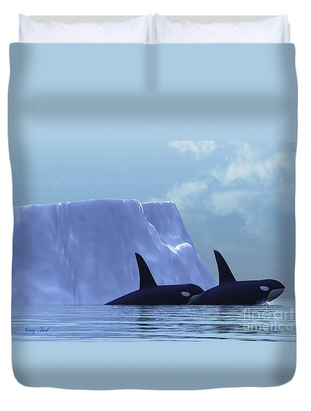 Orca Duvet Cover by Corey Ford