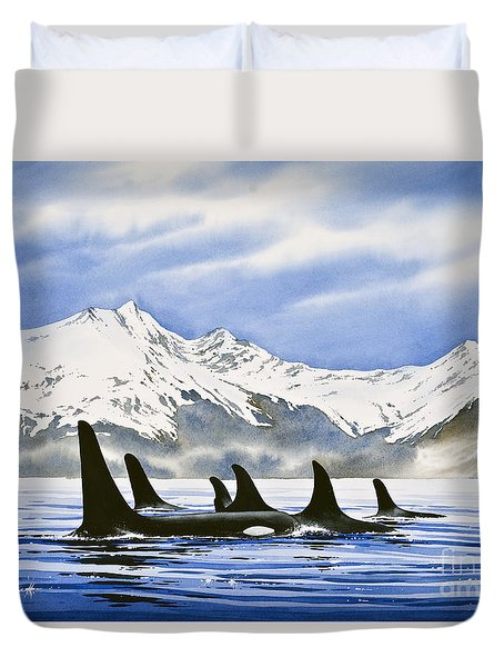 Orca Duvet Cover by James Williamson