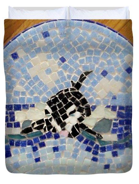 Orca Mosiac Duvet Cover by Jamie Frier