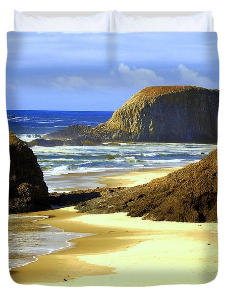 Oregon Coast 18 Duvet Cover by Marty Koch