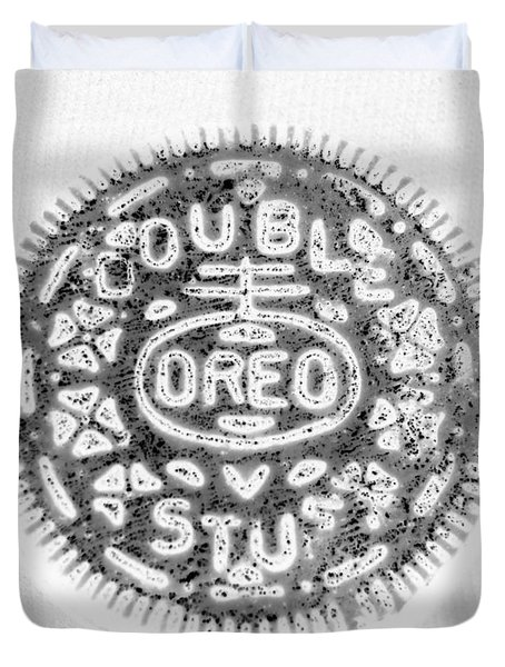 Oreo In Negetive Duvet Cover by Rob Hans