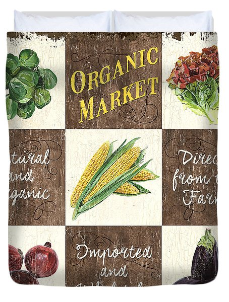 Organic Market Patch Duvet Cover by Debbie DeWitt