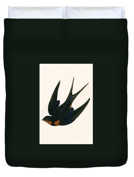 Oriental Chimney Swallow Duvet Cover by English School