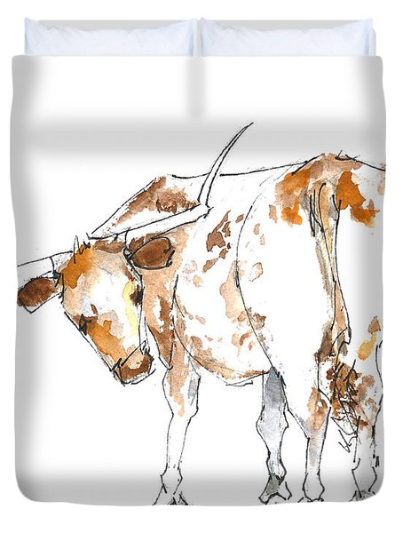 Original Texas Whimsey Duvet Cover by Kathleen McElwaine