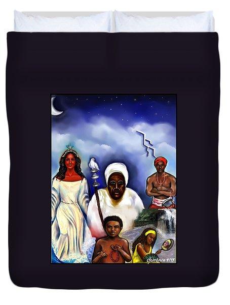 Orishas Duvet Cover by Carmen Cordova