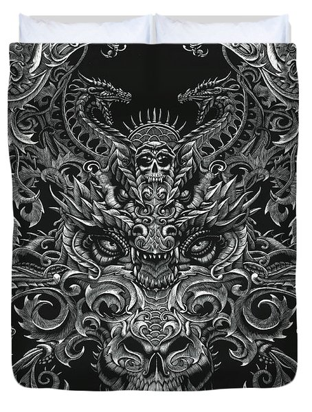 ornate dragon drawing by stanley morrison. Black Bedroom Furniture Sets. Home Design Ideas