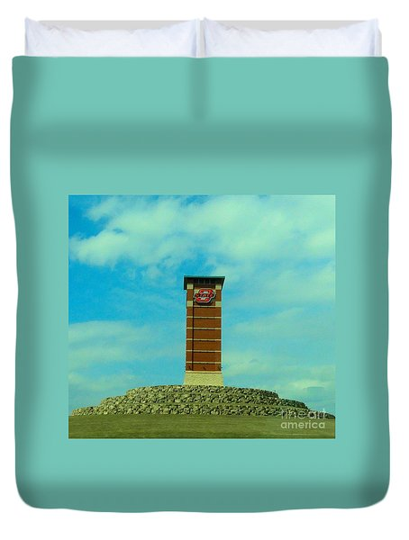 Oklahoma State University Gateway To Osu Tulsa Campus Duvet Cover by Janette Boyd
