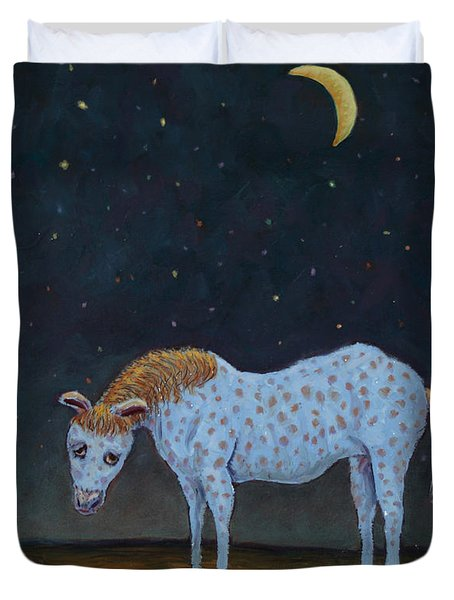 Out to Pasture Duvet Cover by James W Johnson
