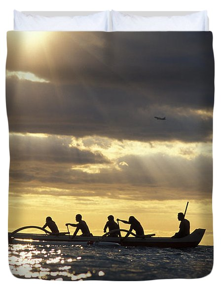 Outrigger Canoe Duvet Cover by Vince Cavataio - Printscapes