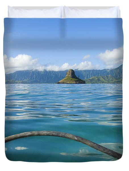 Outrigger on Ocean Duvet Cover by Dana Edmunds - Printscapes
