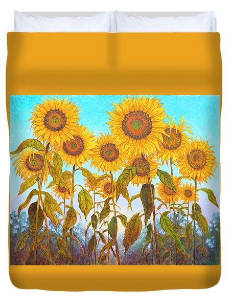 Ovation Sunflowers Duvet Cover by Wiley Purkey