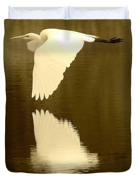 Over Golden Pond Duvet Cover by Carol Groenen