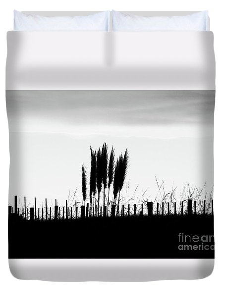Over The Fence Duvet Cover by Karen Lewis