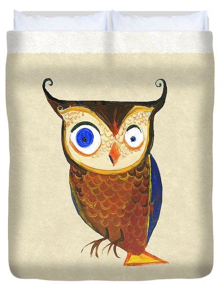 Owl Duvet Cover by Kristina Vardazaryan